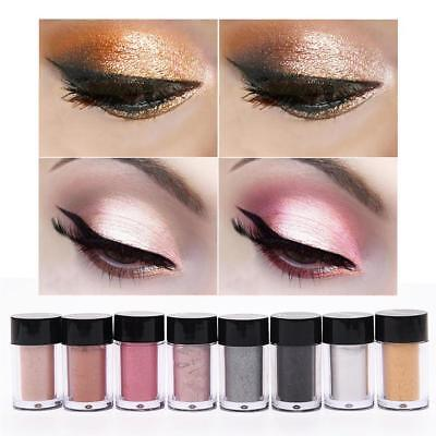 8 Colors Makeup Glitter Eye Shadow Shimmer Pigment Loose Powder w/