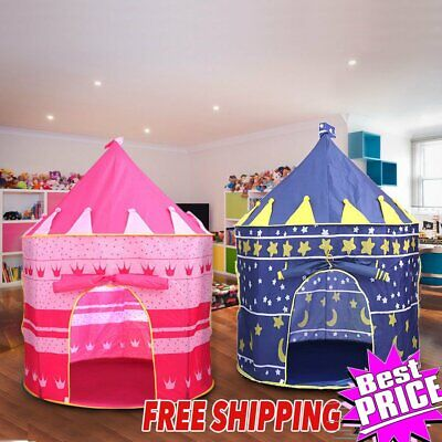 Portable Pop Up Kids Play Tent Girls Princesses Castle Fun House Pink Indoor WN
