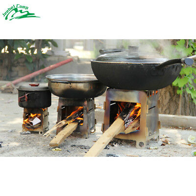 Foldable Wood Stove Outdoor Cooking Camping Alcohol Stainless Steel Stove