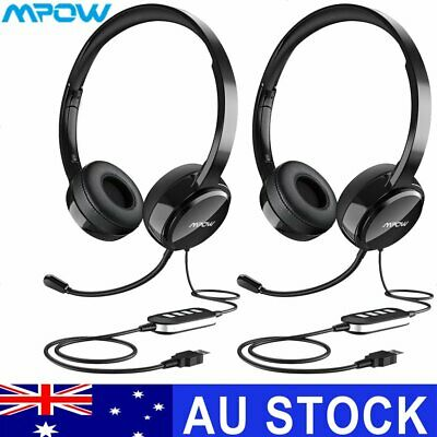 MPOW Gaming Headset USB+ 3.5mm Stereo Headphone with Mic for PC Laptop Computer
