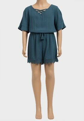 Girls Teal Summer Playsuit Age 6 Years