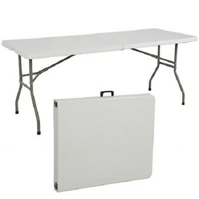 Portable Plastic Folding Table 6' Indoor Outdoor Picnic Party Camping Tables