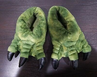 Boys Dinosaur T-Rex Slippers Jurassic World Park with Plush Claws SIZE S/M 13/1
