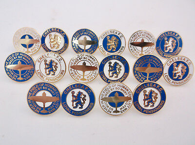 Never in the Field of Human Conflict Chelsea Loyal Pensioners Gilt Pin Badge