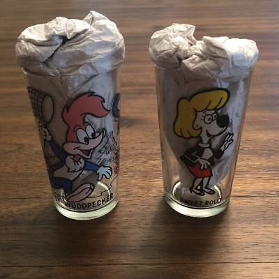 1970S Woody Woodpecker & Polly Pepsi Glass Collector Series Lot Walter Lantz