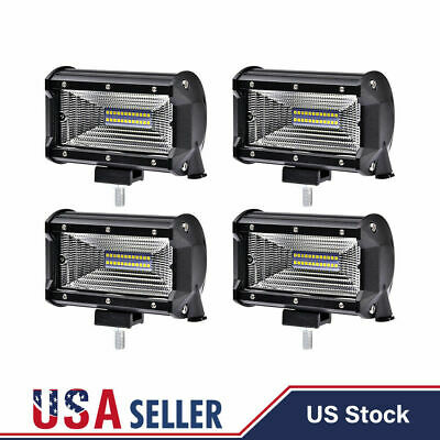 "4PCS 5"" Inch 288W LED Off Road Work Light Bar Spot Beam Flood Driving Fog Lamps"