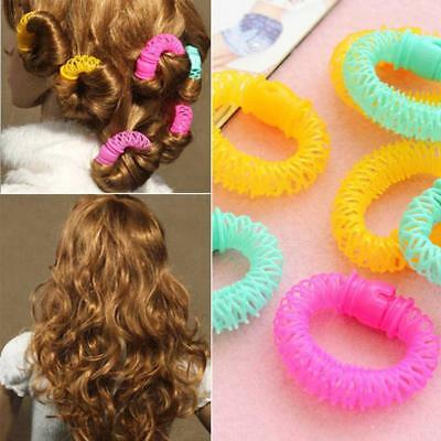 6/8pcs Hairdress Magic Bendy Hair Styling Roller Curler Spiral Curls DIY Tool.w/