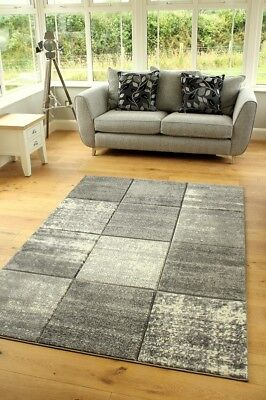 New Modern Grey Silver Good Quality Small Large Size Floor Carpets Rugs Runners