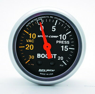 AutoMeter 3301 Sport-Comp (TM) Gauge Boost/ Vacuum