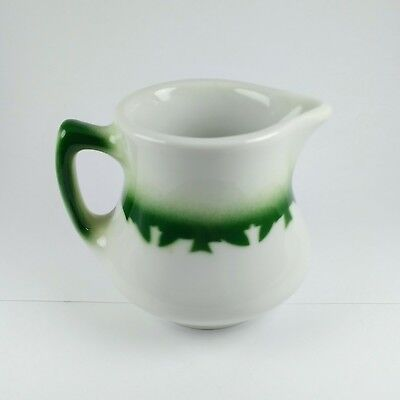 Vintage JACKSON CHINA Creamer with Handle Airbrushed Green Restaurant Ware