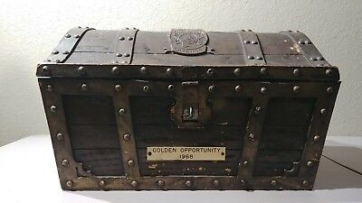 Vintage 1968 Michelob Treasure Chest, Rogers Bros.1847 Gold Flatware 71 pieces