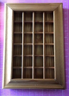 Wooden Miniatures Thimble Display Case Holds 24