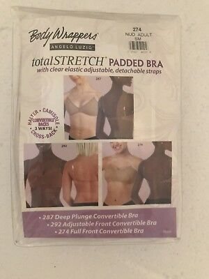 Body Wrappers totalStretch Padded Bra Small