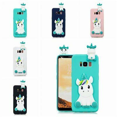 3D TPU Unicorn Case For iPhone X 6 7 8 Plus Samsung galaxy S8 S8 Plus S9 S9 Plus