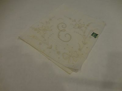 Madeira Monogram E Hankie Embroidered Tag Attached