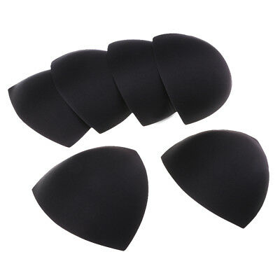 3 Pairs Black Triangle Bra Insert Pads Breast Pads for Swimsuit Bikini Tops