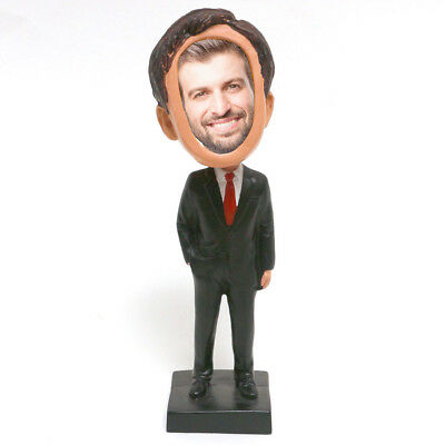 Businessman Picture Photo Frame Bobblehead Doll