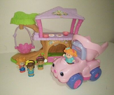 Fisher Price Little People Fairy Tree House & PINK Real Sounds Dump Truck Girls