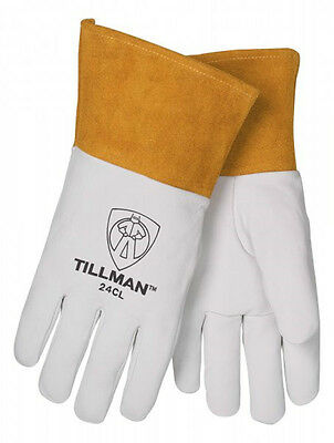 "Tillman 24C Medium TIG Welding Gloves Top Grain Kidskin Leather w/ 4"" Cuff"
