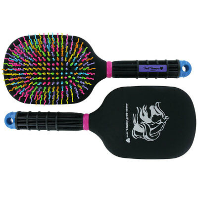 Professional Choice Tail Tamer Mane And Tail Rainbow Bristles Paddle Brush