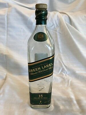 Johnnie Walker Green Label Scotch Whiskey EMPTY Bottle - 750 ml