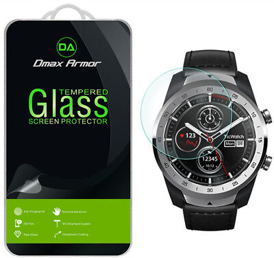 [2-Pack] Dmax Armor Tempered Glass Screen Protector For TicWatch Pro