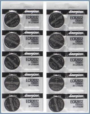 "10 Energizer CR2032 2032 3v Lithium Coin Batteries ""Made in Japan"""