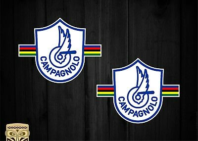 Pegatina Sticker Campagnolo Uci Retro Vintage Bike Specialized X2 Laminated