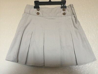 1b0777e30 OLD NAVY GIRLS Khaki School Uniform Pleated Skirt Skort Sz 6-7 NWT ...