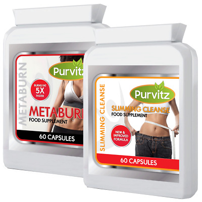 Fat Burners And Colon Cleanser Combo Diet Slimming Weight Loss Pills Combo