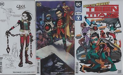 Teen Titans #20 Cover Set 1St Print A & B 1:25 Variant Cover Vf/nm