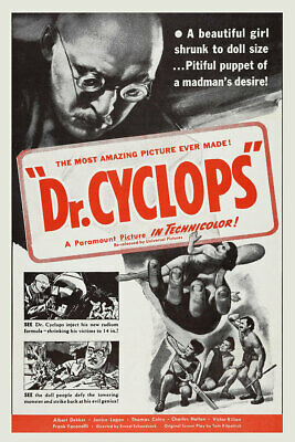 Doctor Cyclops 1960s Military Movie Poster