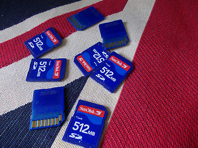 512MB  SANDISK  SD  MEMORY CARD new