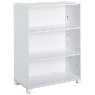 Aero White Bookcase Work Computer Study Shelf Home Office Furniture Storage