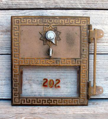 Vintage Brass USPS Post Office Box Door KEYLESS LOCK CO 1957