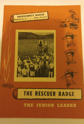 National Council Boy Scouts of Canada The Rescuer Badge Proficiency Badge