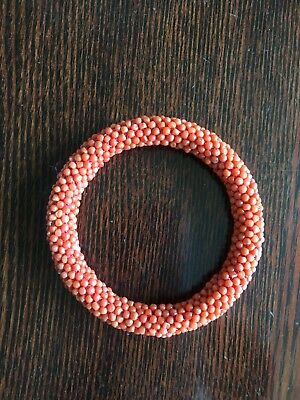Antique Chinese Red Coral Bangle, 18TH - 19TH (Diam 56mm)
