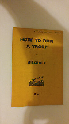 Scout Association London How to Run a Troop Gilcraft 1957