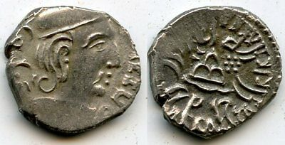Silver drachm of Rudrasena III (348-378 AD) dated 287 SE/365 CE, Western Satraps