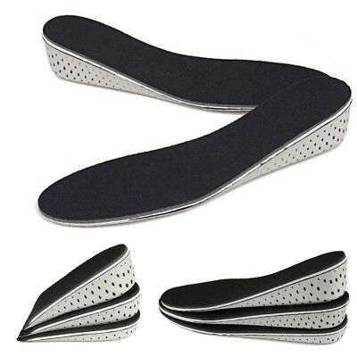 Pair Insole Heel Lift Insert Shoe Pad Height Increase Cushion Elevator Taller G1