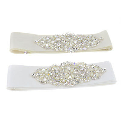 Glitter Rhinestone Bridal Waist Belt Sash Satin Ribbon For Wedding Party Dress