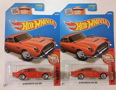 2016 HOT WHEELS #101 Then and Now 1963 ASTON MARTIN DB5 rouge