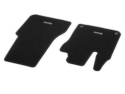 Genuine Smart 453 Fortwo Forfour Car Foot Mats Ribbed Front 2 Pcs Black