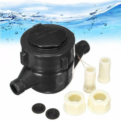 15mm Plastic Garden Home Single Flow Dry Cold Water Table Measuring Meter