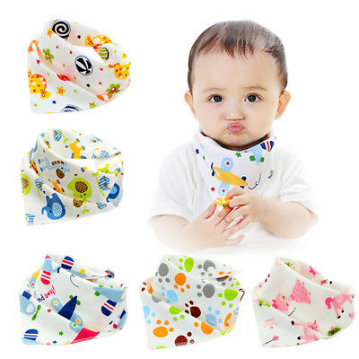 Infant Baby Cotton Bibs Feeding Triangle Dribble Bandana Scarf Saliva Towel Cute