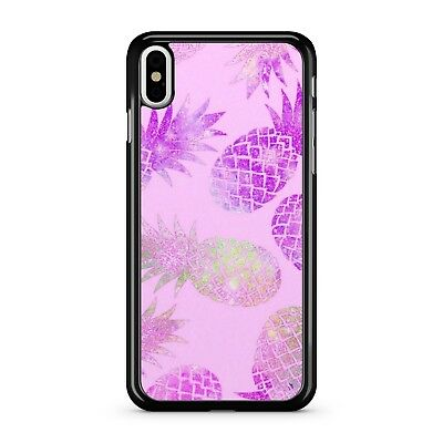 Purple Coloured Scrumptious Tropical Pineapple Fruit Pattern 2D Phone Case Cover