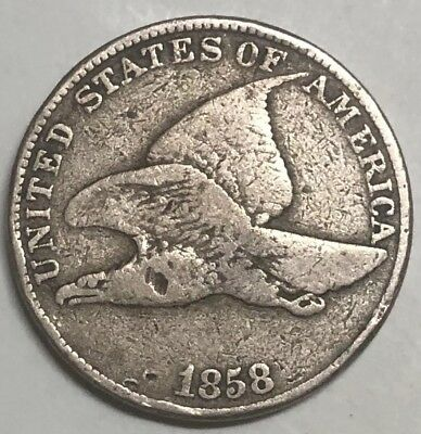 1858/7 Flying Eagle Cent Mint Error FS-302 S-7