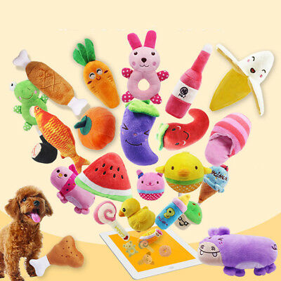 Plush Sound Feeding Pet Chew Supplies Dog Toys Fruits Vegetables Professional