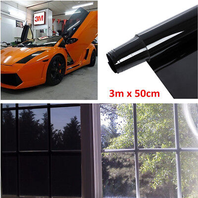 3mx50cm 5% VLT CAR SUV HOME WINDOW TINT GLASS FILM TINTING ROLL FEET SHADE+Tools