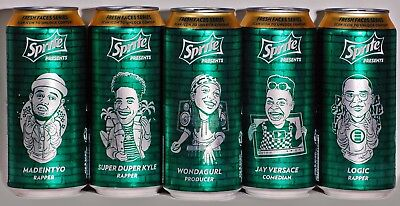 Sprite Presents Fresh Faces Series Collectable 16oz Cans - Sets OR Single Cans